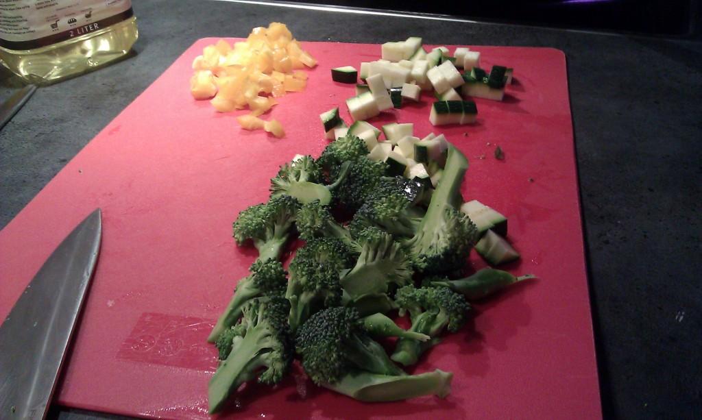 Grønnsaker til vill pastasaus