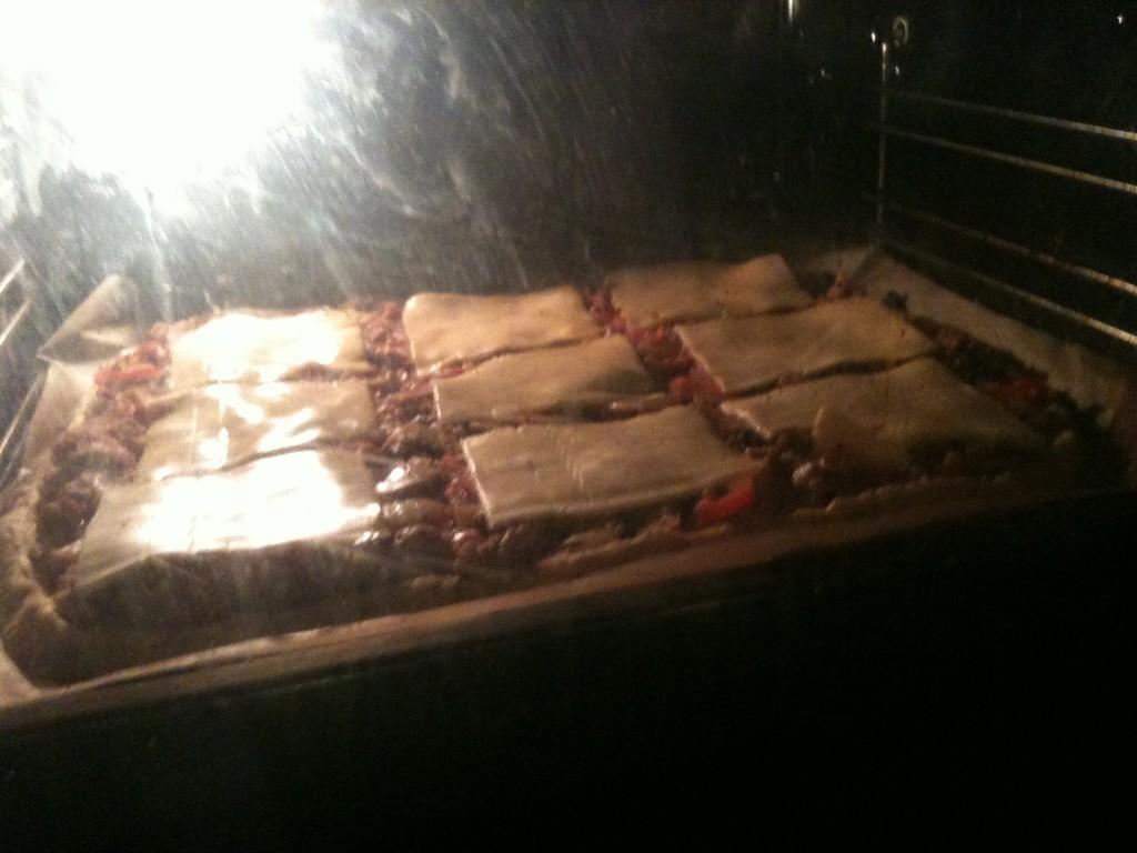 Pizzabunn i ovnen