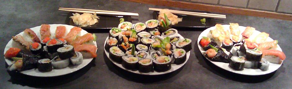 Hjemmelaget sushi; maki, nigiri og handroll, med nye smaker