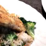 Innbakt steinbit med stekt ris