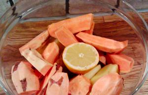 Søtpotet, potet og sitron