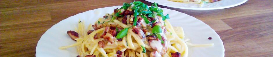 Pasta Carbonara med kylling