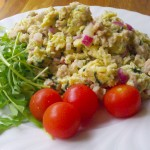 Lowcarb lunch; eggerøre med kyllingkjøttdeig