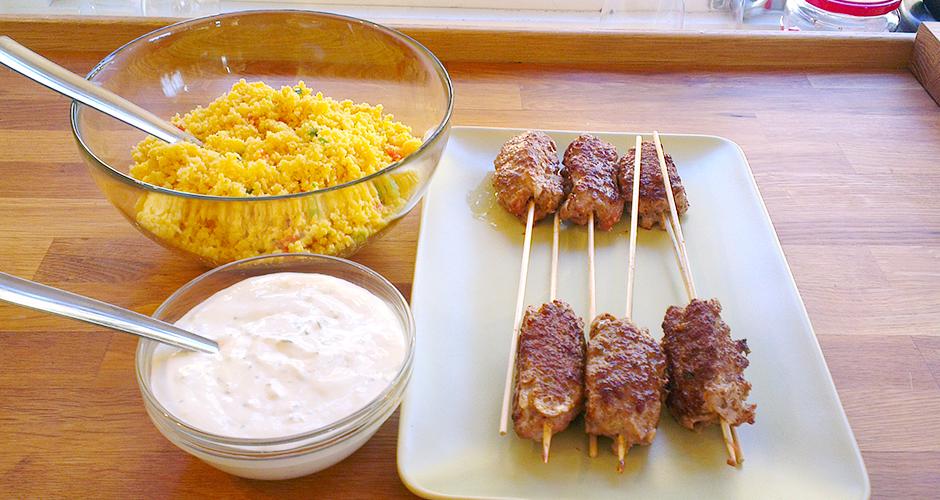 Kebab og tzatziki