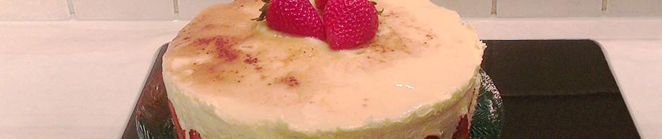 Fransk jordbærkake; Fraisier - glutenfri og melkefri