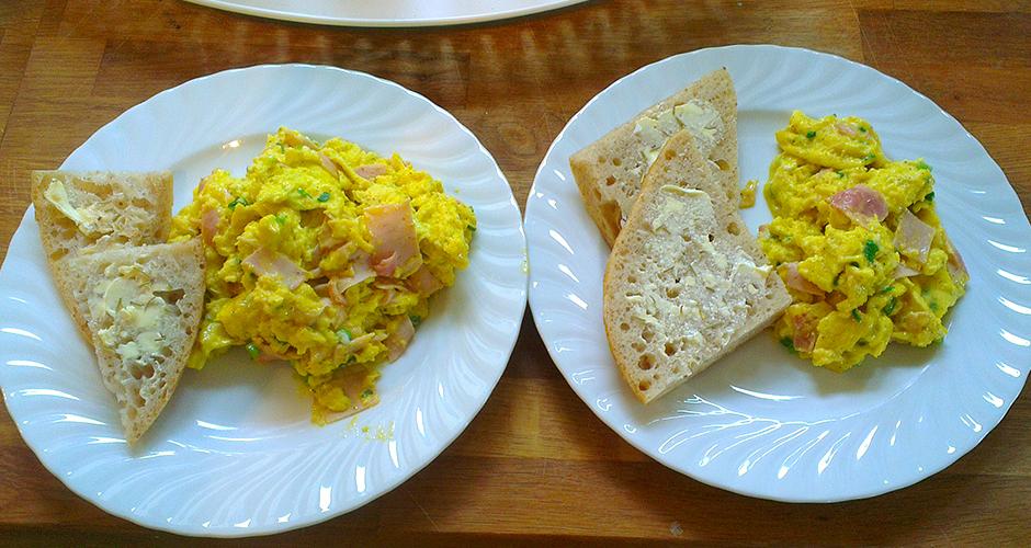 Deilig glutenfritt surdeigsbrød med eggerøre