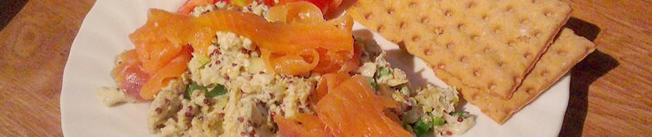 Eggerøre med quinoa