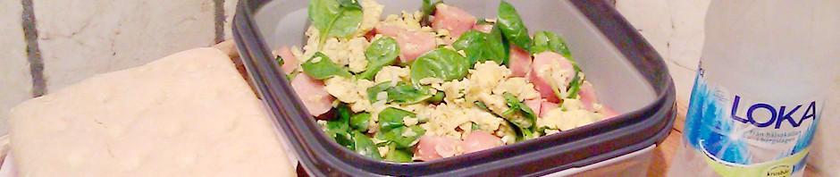To take away: Eggerøre med pølse og sandwich
