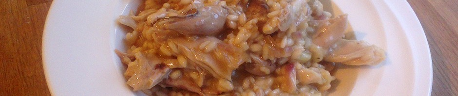 Risotto med stekt kyllinglår